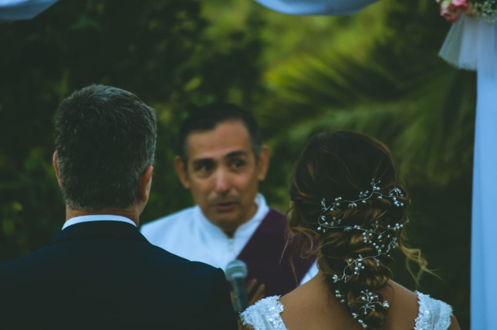 wedding officiant at ceremony