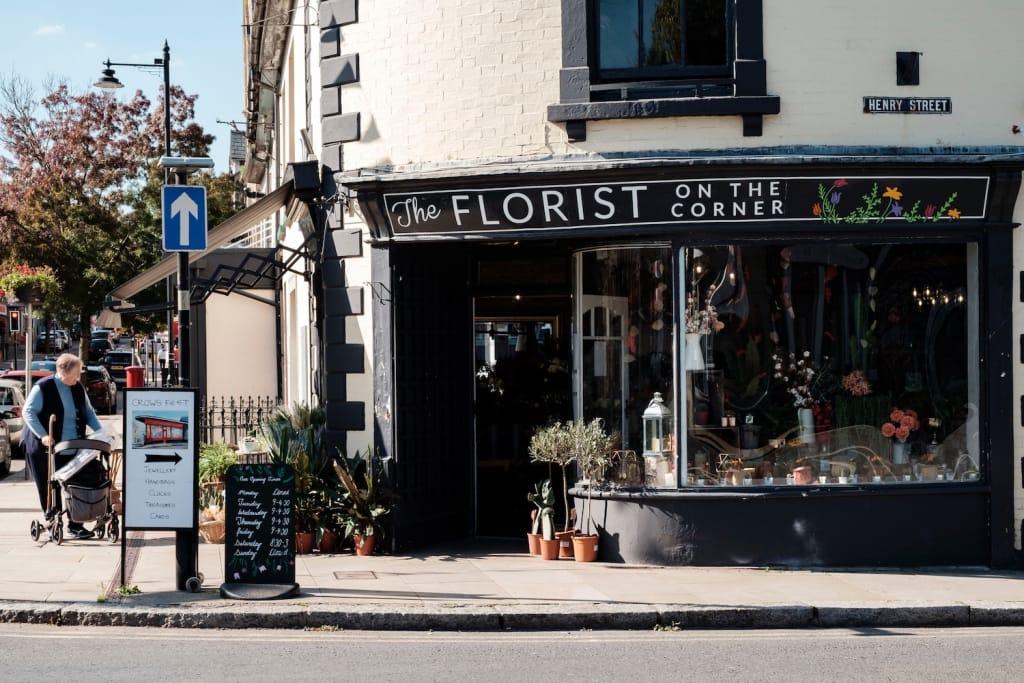 florist shop on a corner