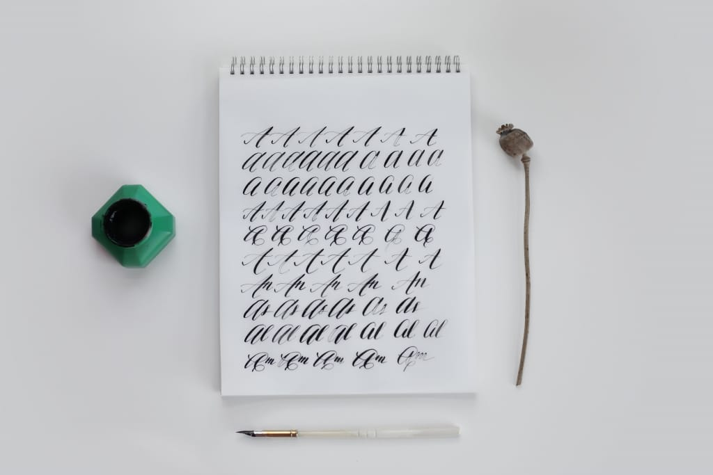 calligraphy save the dates