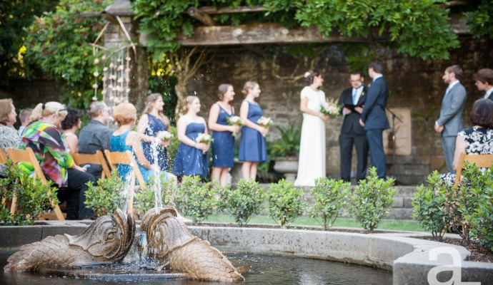 lewis and clark college gardens wedding