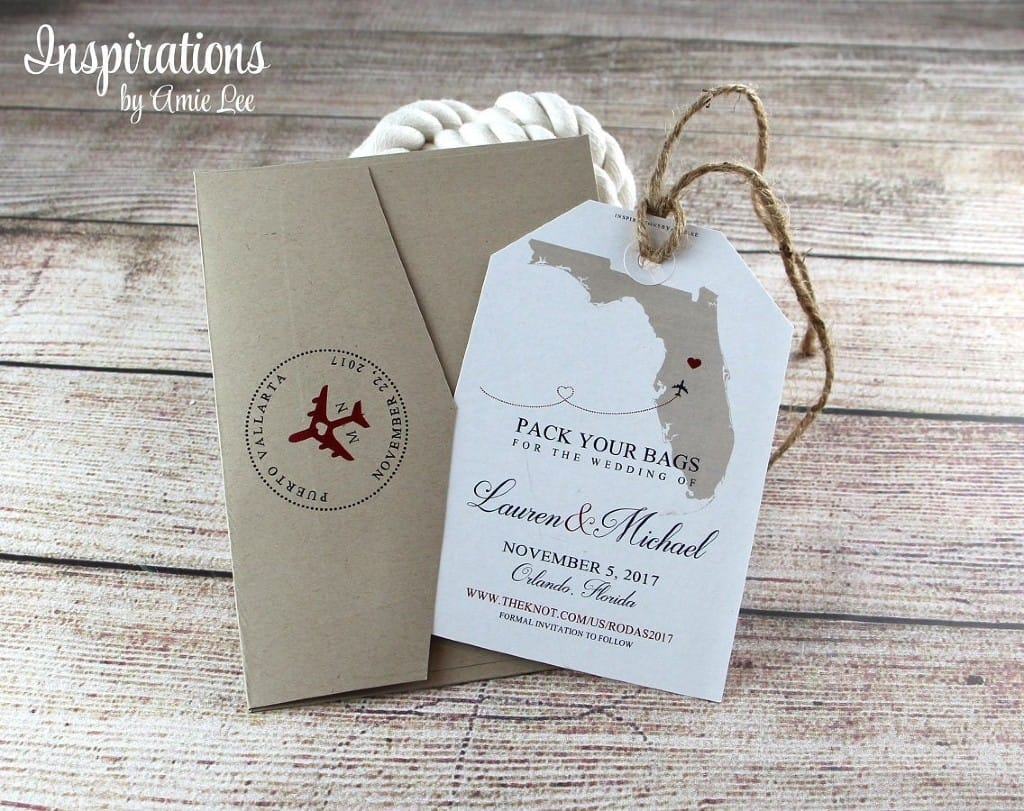 Luggage tag save-the-date ideas