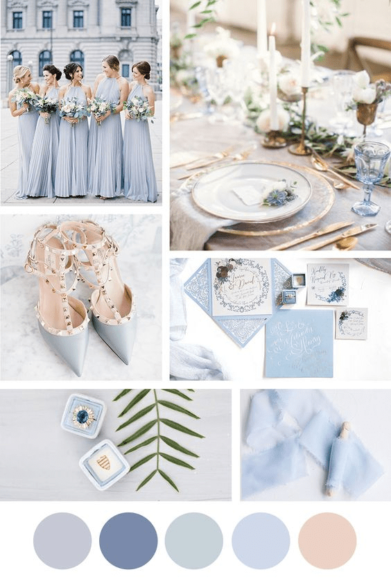 Spring wedding colors: Periwinkle and dusty blues