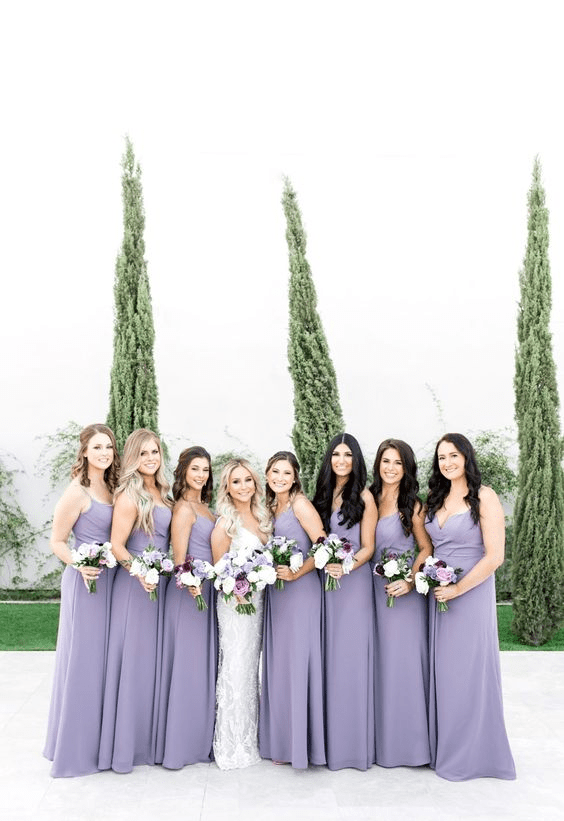 Lilac is among the most popular spring wedding colors