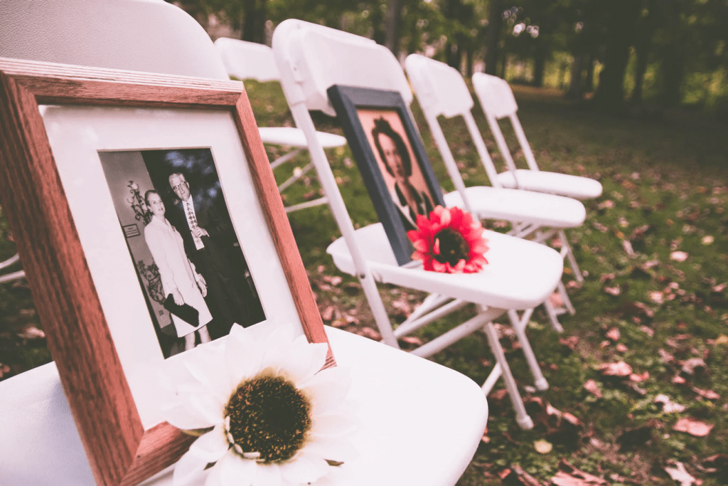Wedding ceremony ideas: Photos of loved ones who have passed