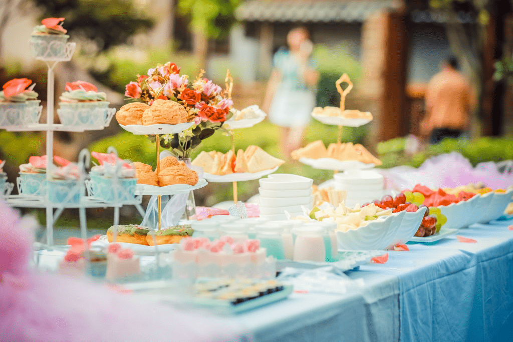 Cake and finger food display