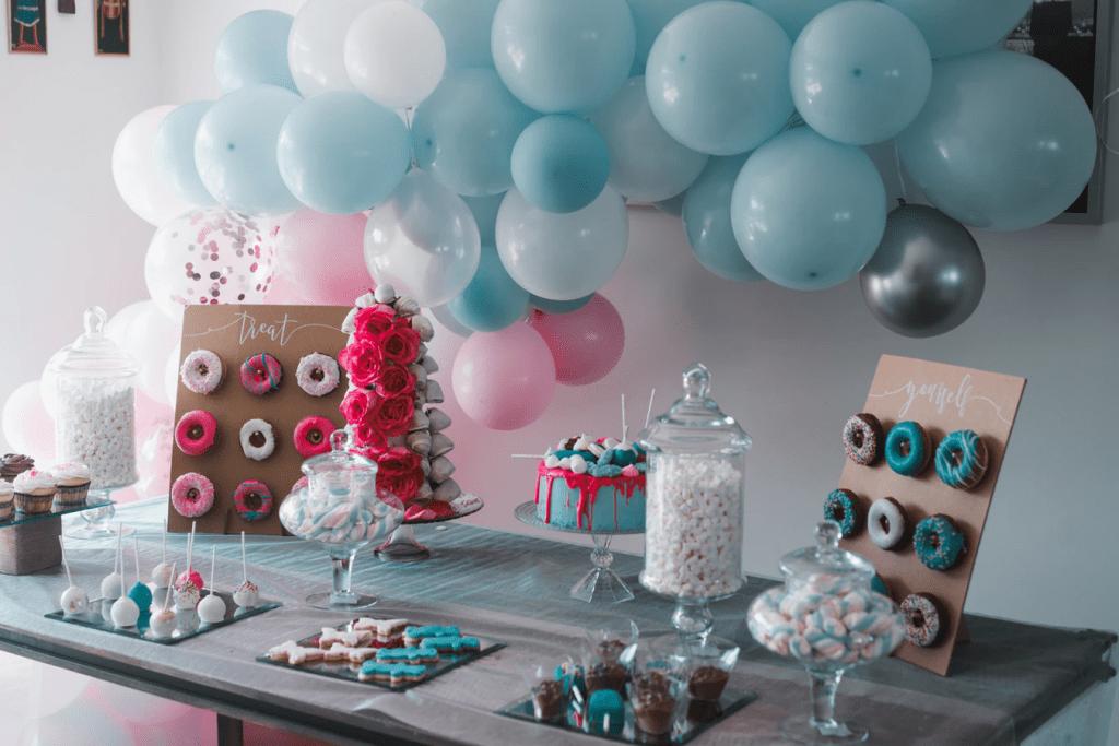 Mini donut party display