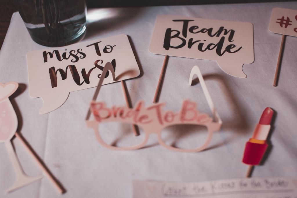 Bridal shower paper cut-outs