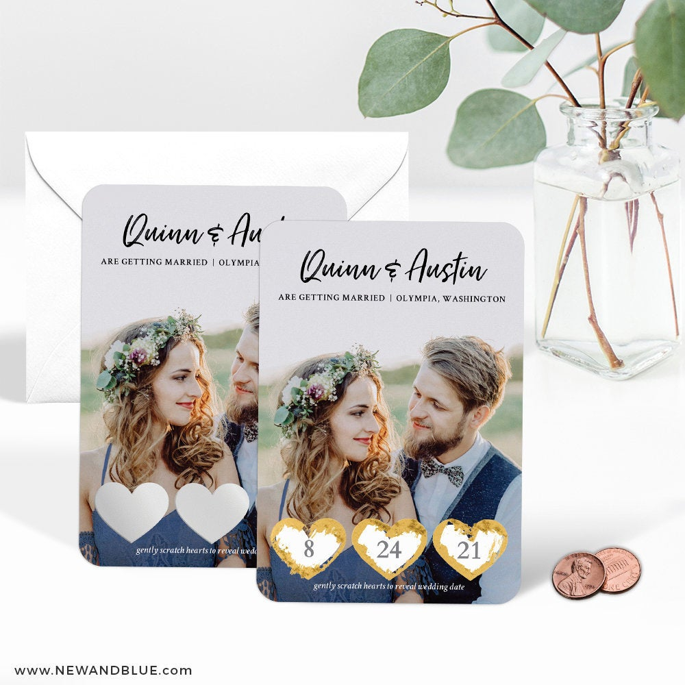 Scratch-off save the dates