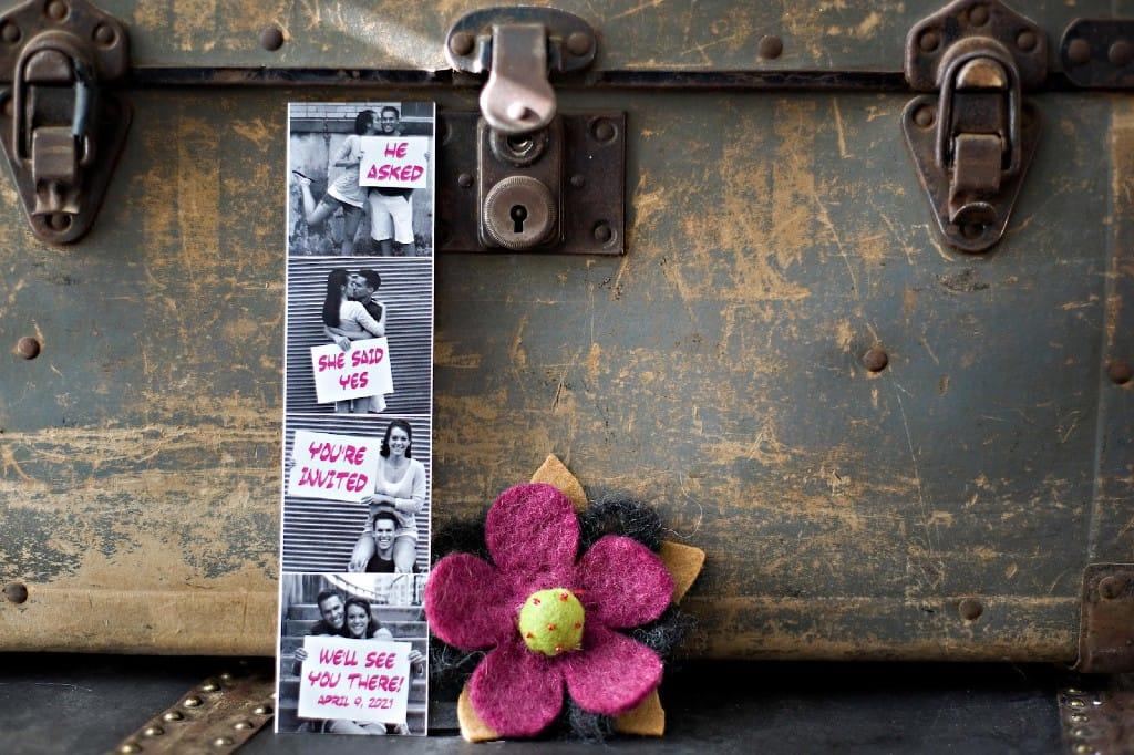 Photo strip save-the-date ideas