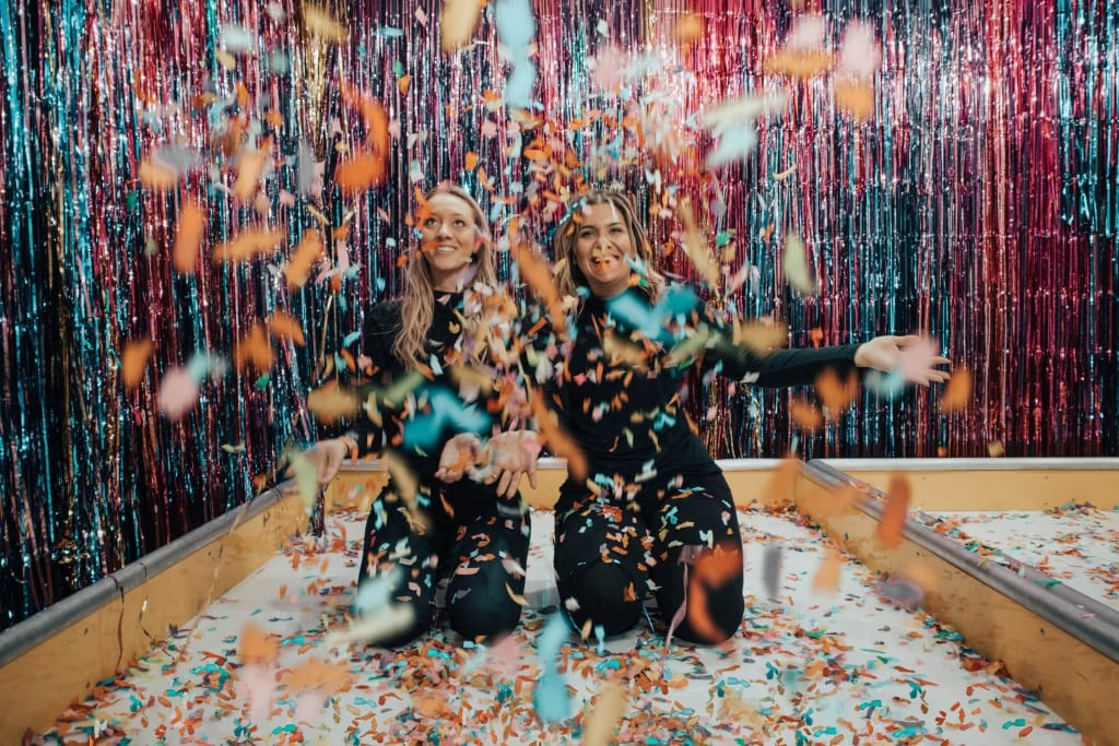 Fun party photo wall