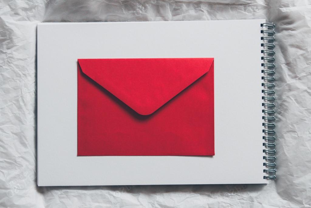 engagement announcement mail envelope