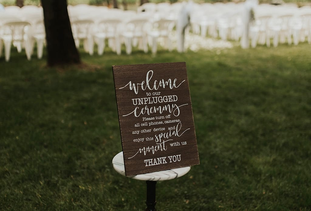 Unplugged wedding ceremony ideas