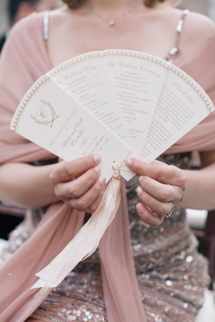 summer wedding ideas fan program