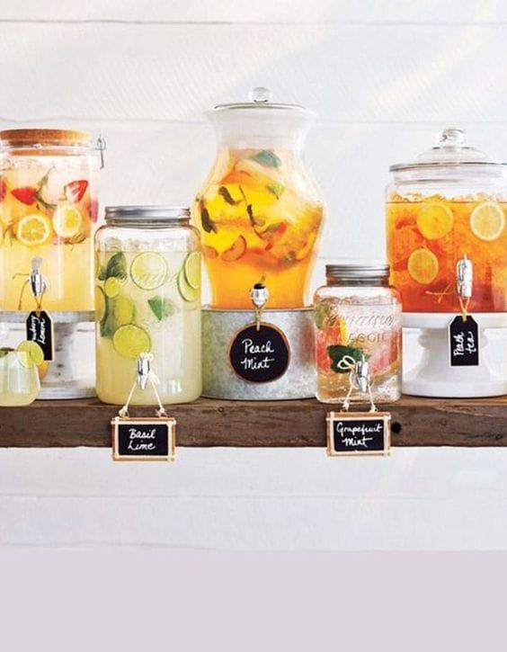 hydration station outdoor summer wedding ideas